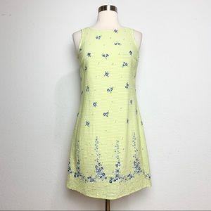 Vintage Green Gingham Mini Dress XS